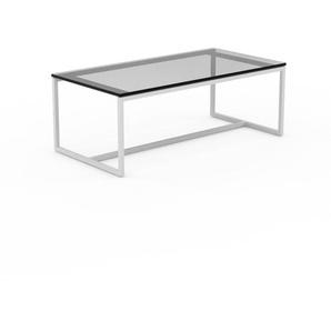 Beistelltisch Rauchglas Schwarz klar - Eleganter Nachttisch: Hochwertige Materialien, einzigartiges Design - 81 x 30 x 42 cm, Komplett anpassbar