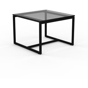 Beistelltisch Rauchglas Schwarz satiniert - Eleganter Nachttisch: Hochwertige Materialien, einzigartiges Design - 42 x 30 x 42 cm, Komplett anpassbar