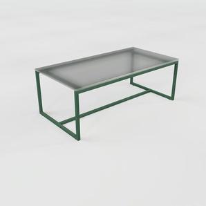 Beistelltisch Rauchglas Schwarz satiniert - Eleganter Nachttisch: Hochwertige Materialien, einzigartiges Design - 81 x 30 x 42 cm, Komplett anpassbar