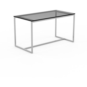 Beistelltisch Rauchglas Schwarz satiniert - Eleganter Nachttisch: Hochwertige Materialien, einzigartiges Design - 81 x 45 x 42 cm, Komplett anpassbar