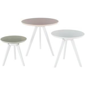 Beistelltisch-Set 3-teilig  Shine ¦ rosa/pink Tische  Beistelltische  Beistelltische ohne Rollen - Höffner