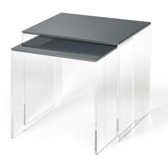 Beistelltisch Set aus Acrylglas Dunkelgrau (2-teilig)