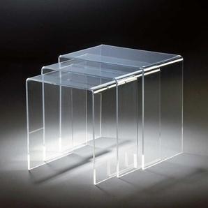 Beistelltisch Set aus Acrylglas modern (dreiteilig)