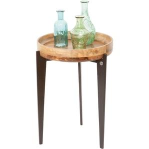 Beistelltisch »T-TRAY TABLE HIGH«, FSC®-zertifiziert, orange, Material Stahl / Mangoholz, TOM TAILOR