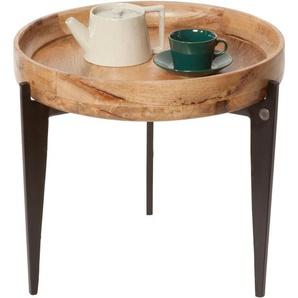 Beistelltisch »T-TRAY TABLE SMALL«, FSC®-zertifiziert, orange, Material Stahl / Mangoholz, TOM TAILOR