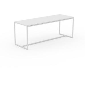 Beistelltisch Weiß - Eleganter Nachttisch: Hochwertige Materialien, einzigartiges Design - 121 x 46 x 42 cm, Komplett anpassbar
