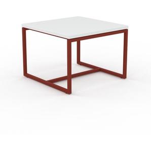 Beistelltisch Weiß - Eleganter Nachttisch: Hochwertige Materialien, einzigartiges Design - 42 x 31 x 42 cm, Komplett anpassbar