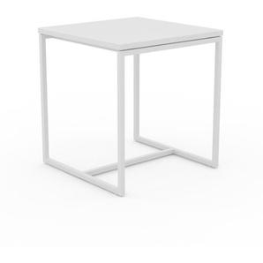 Beistelltisch Weiß - Eleganter Nachttisch: Hochwertige Materialien, einzigartiges Design - 42 x 46 x 42 cm, Komplett anpassbar