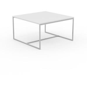 Beistelltisch Weiß - Eleganter Nachttisch: Hochwertige Materialien, einzigartiges Design - 81 x 46 x 81 cm, Komplett anpassbar