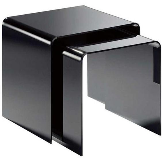 Beistelltische in Schwarz Acrylglas (2-teilig)