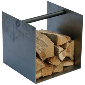 Beitisch mit Brennholzablage Stahl