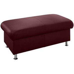Beldomo Premium Hocker Echtleder Rot , Leder , 133x46x66 cm