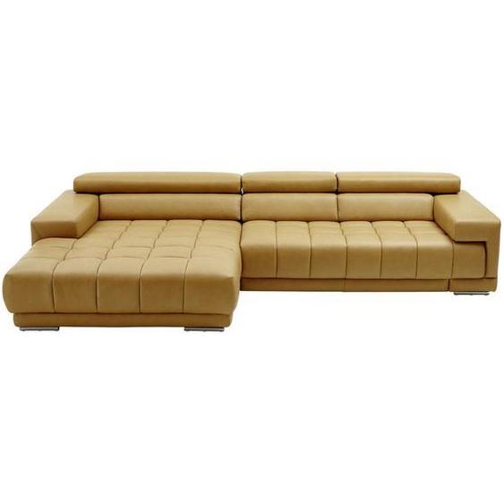 Beldomo Premium Wohnlandschaft Gelb Echtleder , Leder , 3-Sitzer , 190 cm