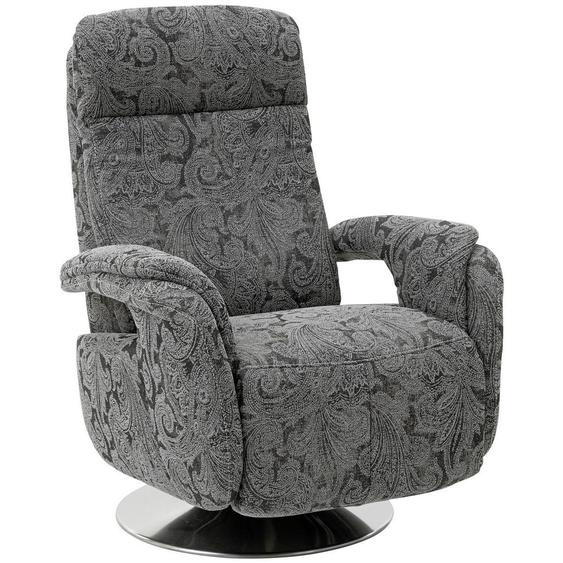 Beldomo System Relaxsessel Flachgewebe , Grau , Textil , Ornament , 80x109x88 cm