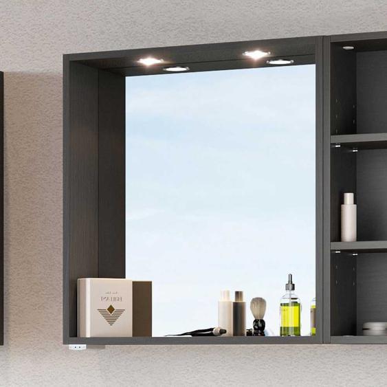 Beleuchteter Spiegel für Bad dunkel Grau