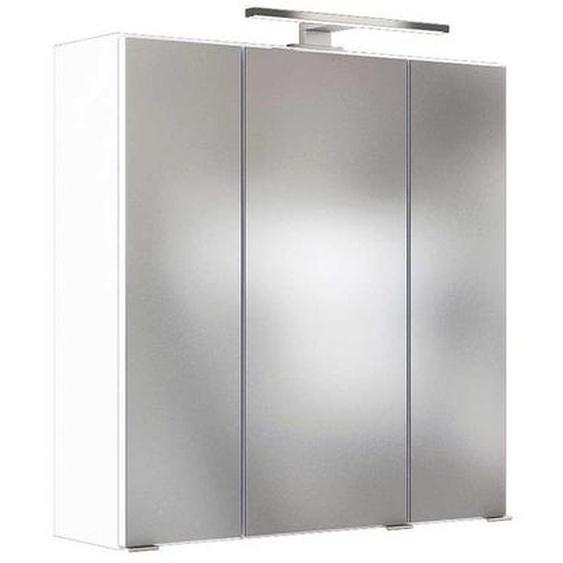 Beleuchteter Spiegelschrank in Weiß 60 cm breit