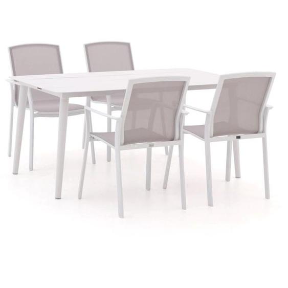 Bellagio Dranera/Sora 160 cm Esstischgruppe 5-teilig stapelbar