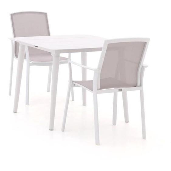 Bellagio Dranera/Sora 90 cm Esstischgruppe 3-teilig stapelbar