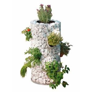 Bellissa Gabionen-Kräuterturm Ø 40 cm / Ø 26 cm x 80 cm
