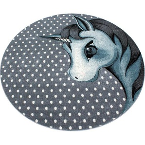 Bennjen: Kinderteppich, Textil, Blau, Grau, Weiß