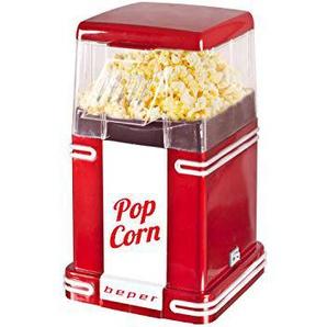 Beper 90.590Y Popcornmaschine, Rot/Weiß