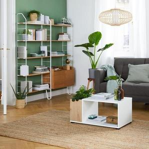 Bepflanzbarer Couchtisch - braun - Holz -