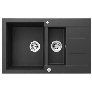 Bergstroem Küchenspüle »Granit Spüle Einbauspüle Spülbecken 800x500mm Schwarz«