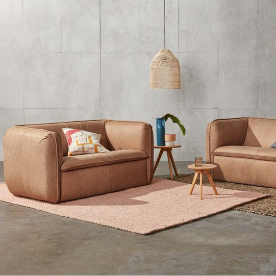 Berko 3-Sitzer Sofa, Leder in Hellbraun
