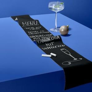 Beschreibbares Tischband - Schwarz - 100% Baumwolle -