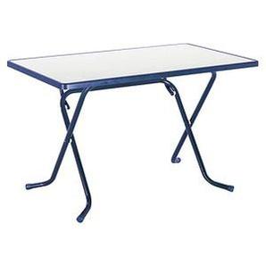 Gartentisch Primo blau rechteckig