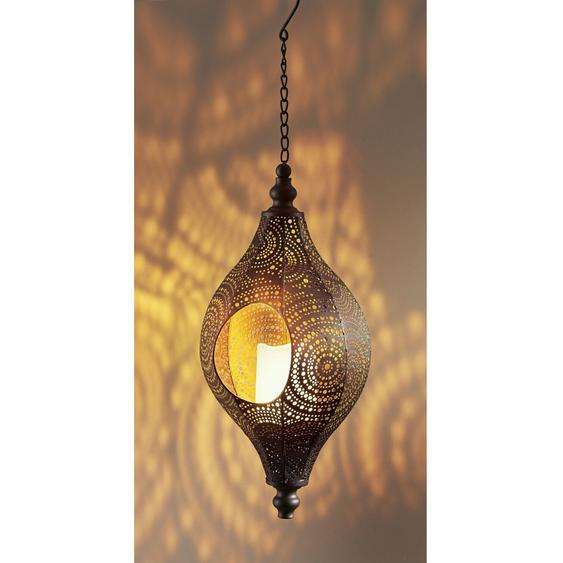 best of home LED-Solarleuchte Agadir Braun