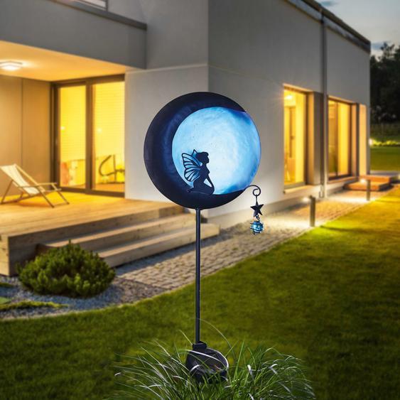 best of home LED-Solarleuchte Elfe am Mond Schwarz Blau