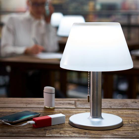 best of home LED-Solarleuchte-Tischleuchte Weiß