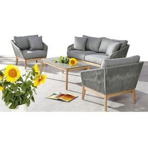 Best Samos Sofagruppe 4-teilig Eukalyptus/Rope Grandis/Grau