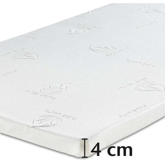 Best-Schlaf Visko-Mineralschaum Matratzenauflage, 4 cm dick, 2er-Set, 120x200 cm