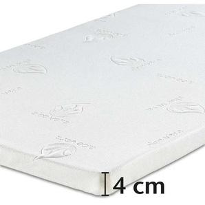Best-Schlaf Visko Matratzenauflage, 4 cm dick, 2er-Set, 80x190 cm