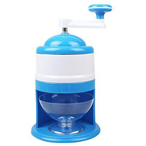 BESTONZON Eismaschine Eiscrusher Manuelle (Blau)