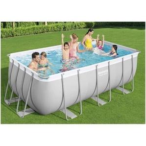 BESTWAY Pool »Bestway Power Steel Swimmingpool-Set Rechteckig 412x201x122 cm«