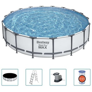 BESTWAY Pool »Bestway Steel Pro MAX Swimmingpool-Set 549x122 cm«