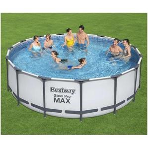 BESTWAY Rundpool »Bestway Steel Pro MAX Swimmingpool-Set Rund 457x122 cm«