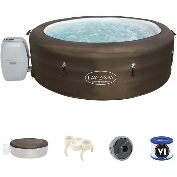 Whirlpool Outdoor 196x61cm | Filterpumpe | 40°C beheizter Pool | LAY-Z SPA selbst aufblasend Massagefunktion - Bestway