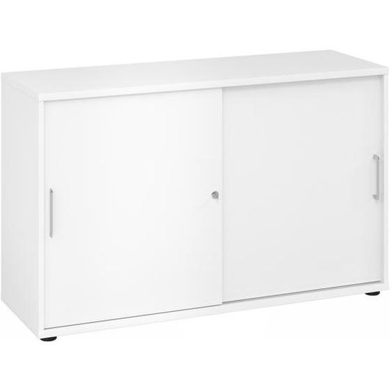 BETA 1752S - 2 OH Weiß/Weiß Schiebetürenschrank Metallgriff