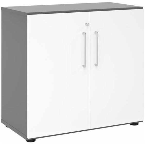 BETA 9 | Schrank mit Türen | 2 OH - Graphit/Weiß