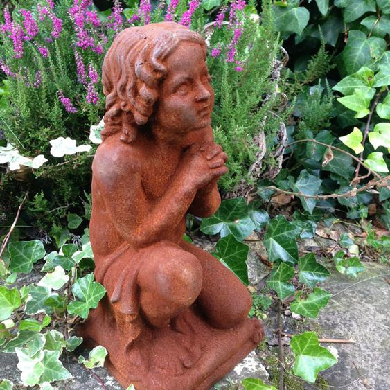 Betender Engel nach Antik-Skulptur, Engel massives Eisen für Grab, Engel Figuren
