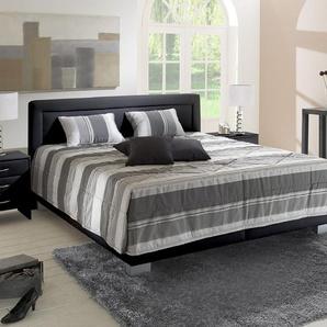 Bett mit Bettkasten Adriano - 200x200 cm - schwarz - ohne Matratze
