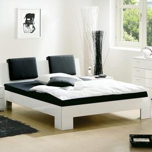Designerbett Black & White - 180x200 cm - weiß