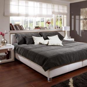 Polsterbett mit Bettkasten - 180x200 cm - schwarz - ohne Matratze - Amadeo