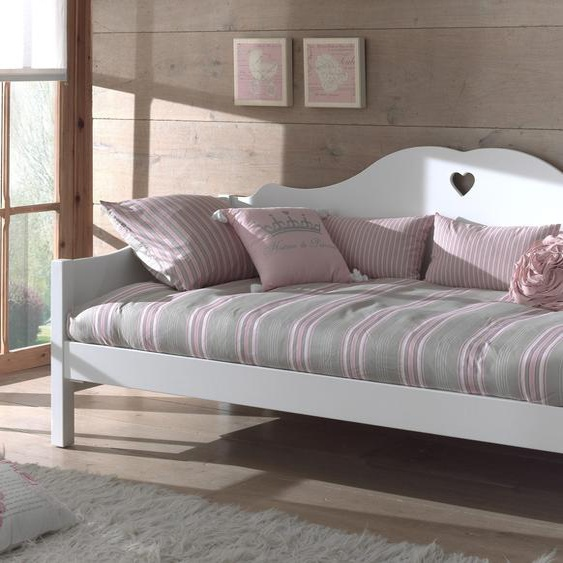 Bett »Amori«, 98x212x95 cm (BxLxH), Vipack, Material MDF, Holzwerkstoff, Metall, lackiert