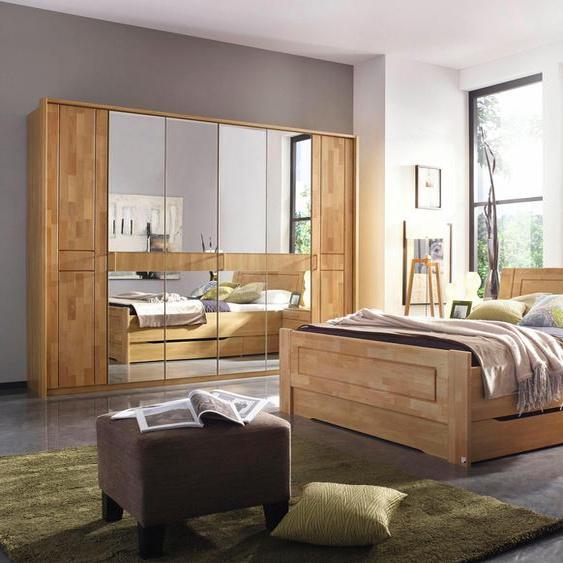 Bett-Anlage  »Bramfeld«, Material Massivholz, rauch BLACK, mit Schubkästen»Bramfeld«