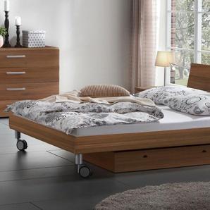 Holz-Dekorbett Antia - 180x200 cm - silber